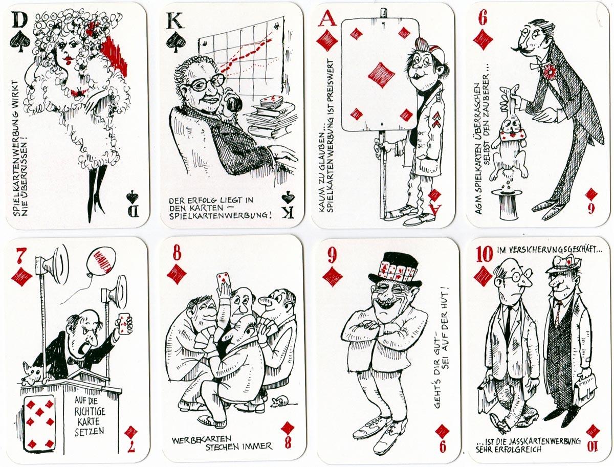 """""""Werbung die Sticht"""" deck by Fritz Bünzli, AG Müller 1982"""