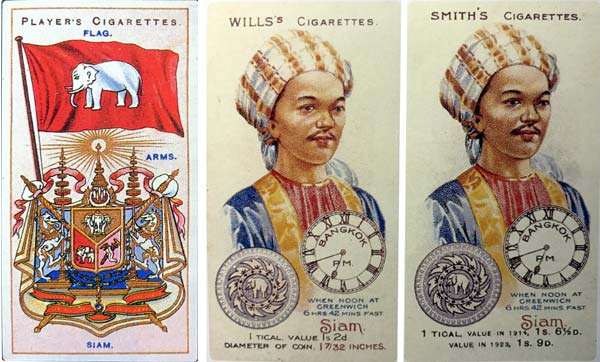 cigarette cards published by foreign tobacco companies