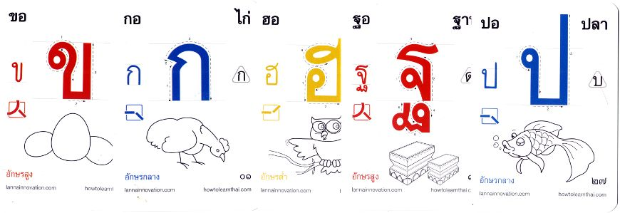 Learn Thai playing cards