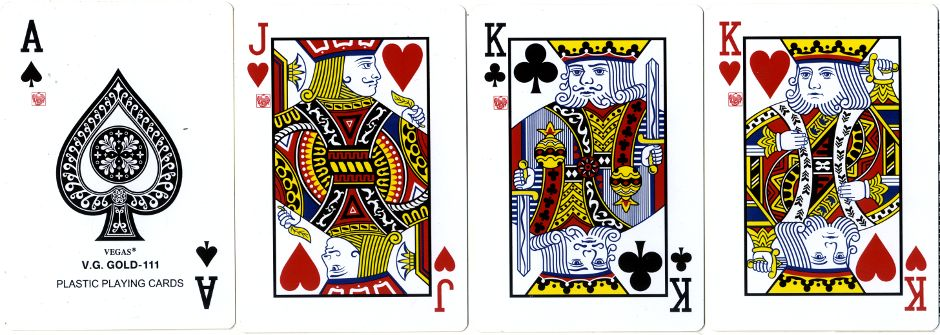 Vegas V.G. Gold-111 plastic playing cards