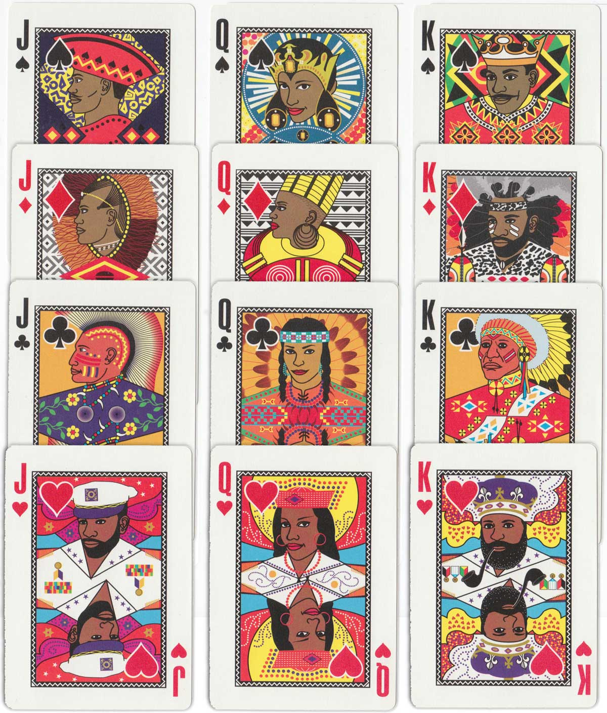 """Allfours  Carnival Playing Cards"" designed by Gabby Woodham, Trinidad, 1995"