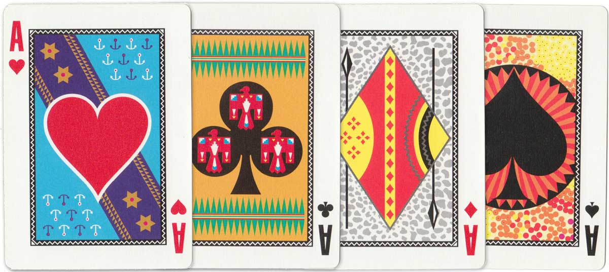 """""""Allfours  Carnival Playing Cards"""" designed by Gabby Woodham, Trinidad, 1995"""