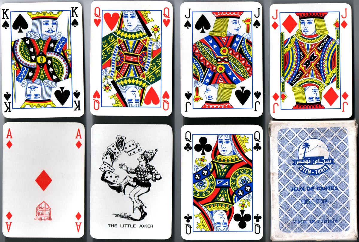 Playing cards for Tunisia, with Mesmaekers Joker, c.1975