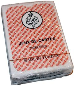 box from Jeux de Cartes RAMI made in Tunisia, 2012