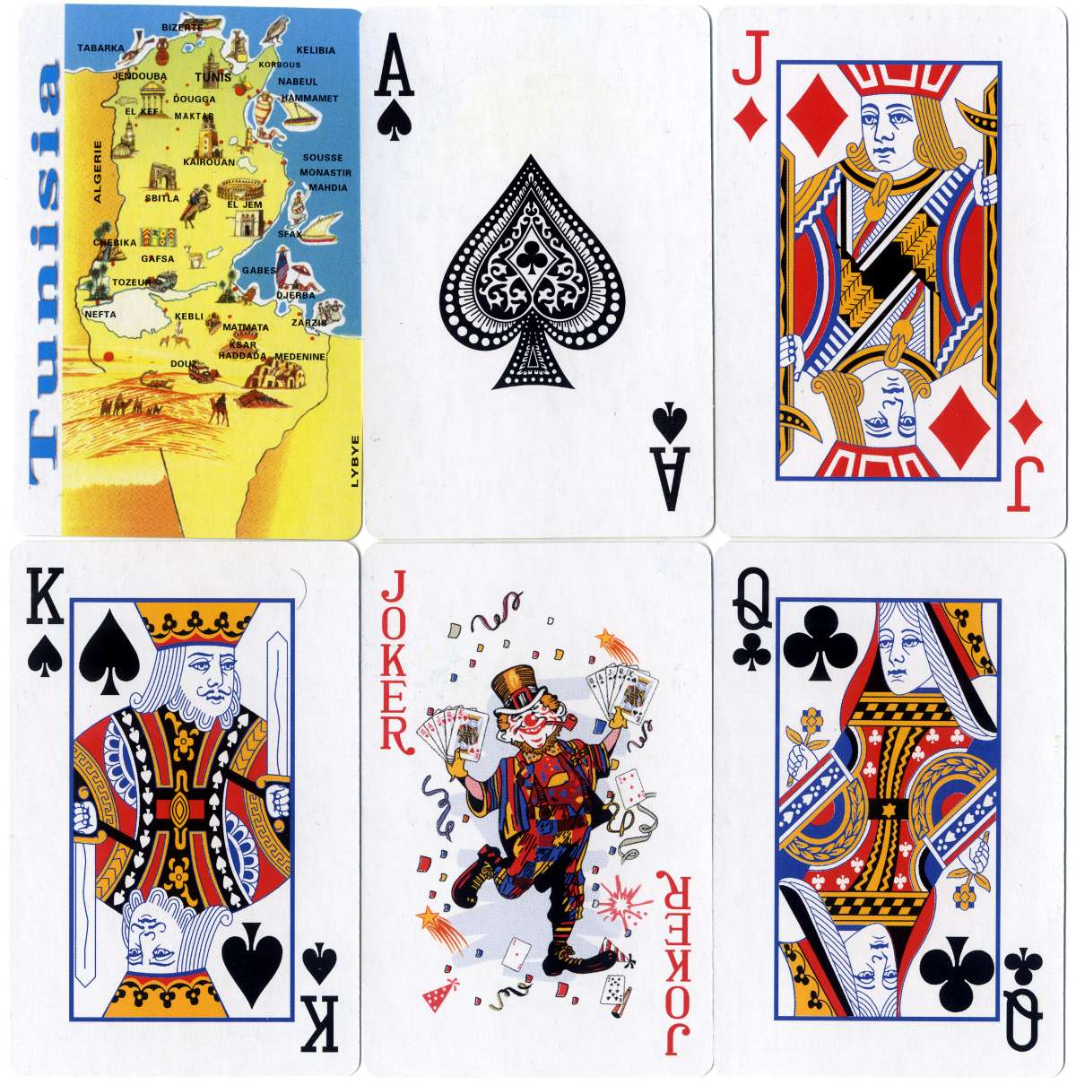 Tunisia souvenir playing-cards made in China