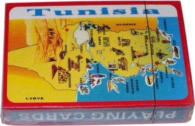 Tunisia souvenir playing cards made in China