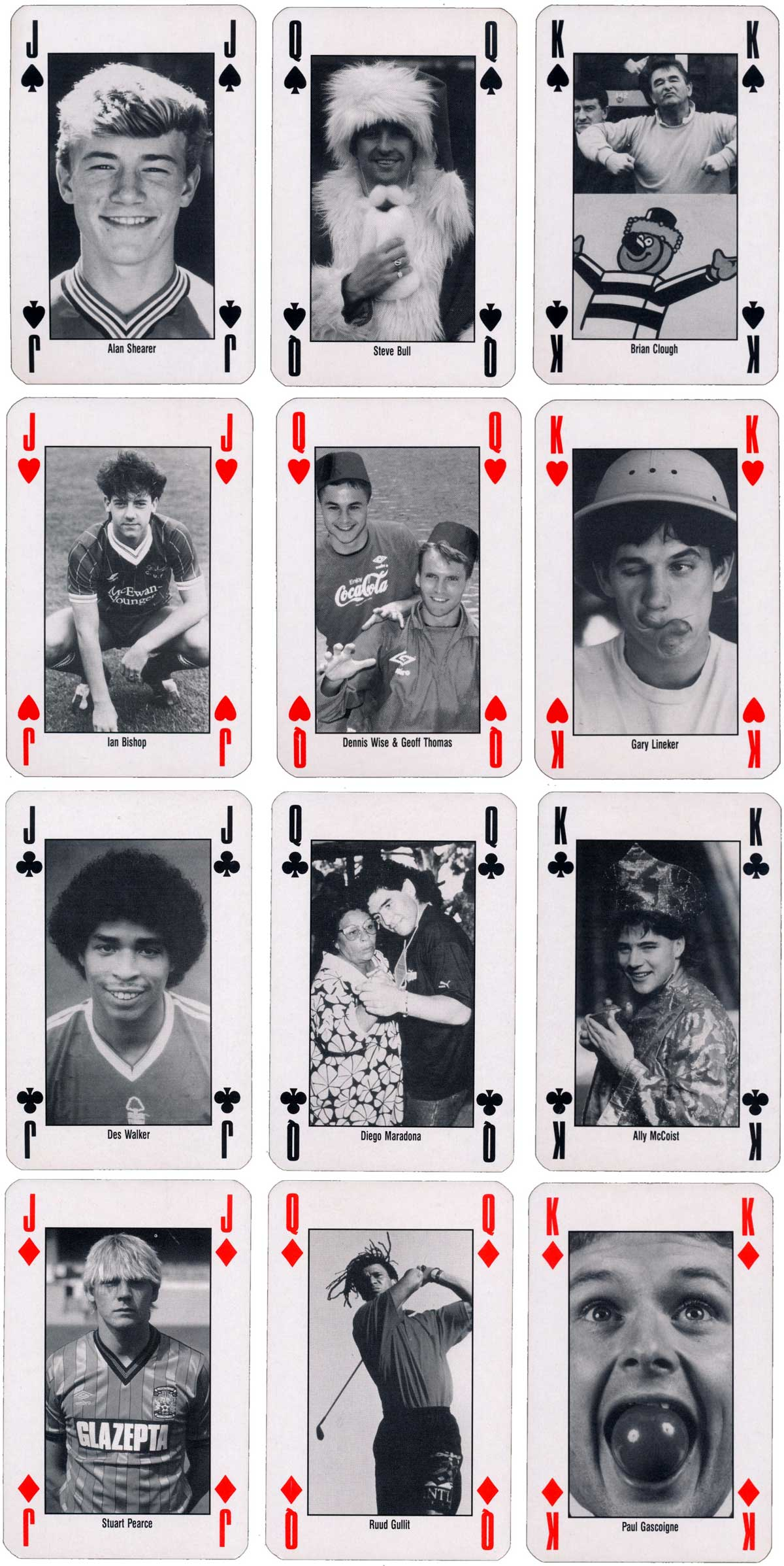 90 Minutes Playing Cards by IPC Magazines 1993