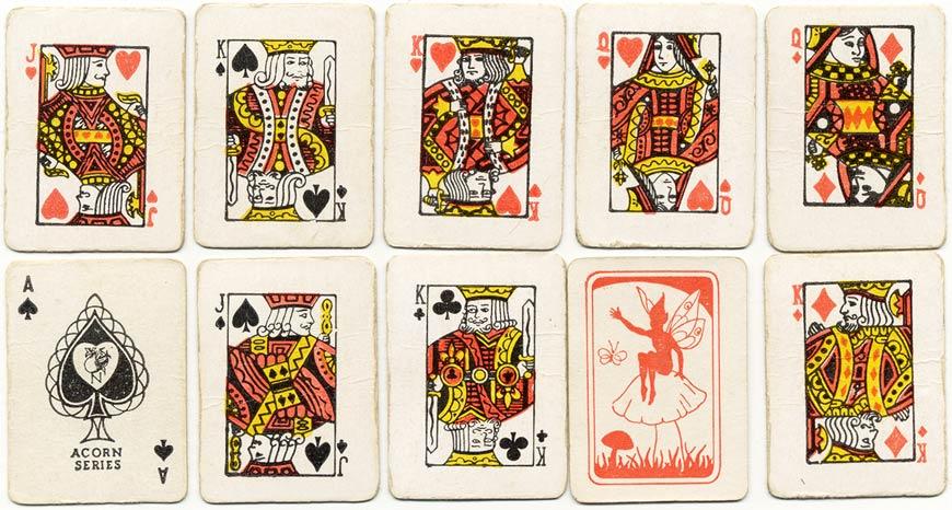 Acorn series miniature children's playing cards, c.1950