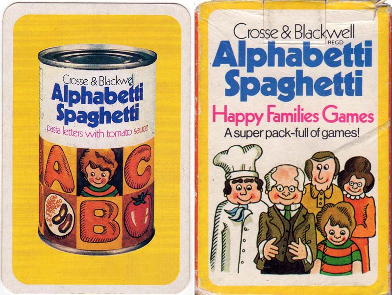 Alphabetti Spaghetti Happy Families game for Crosse & Blackwell c.1978
