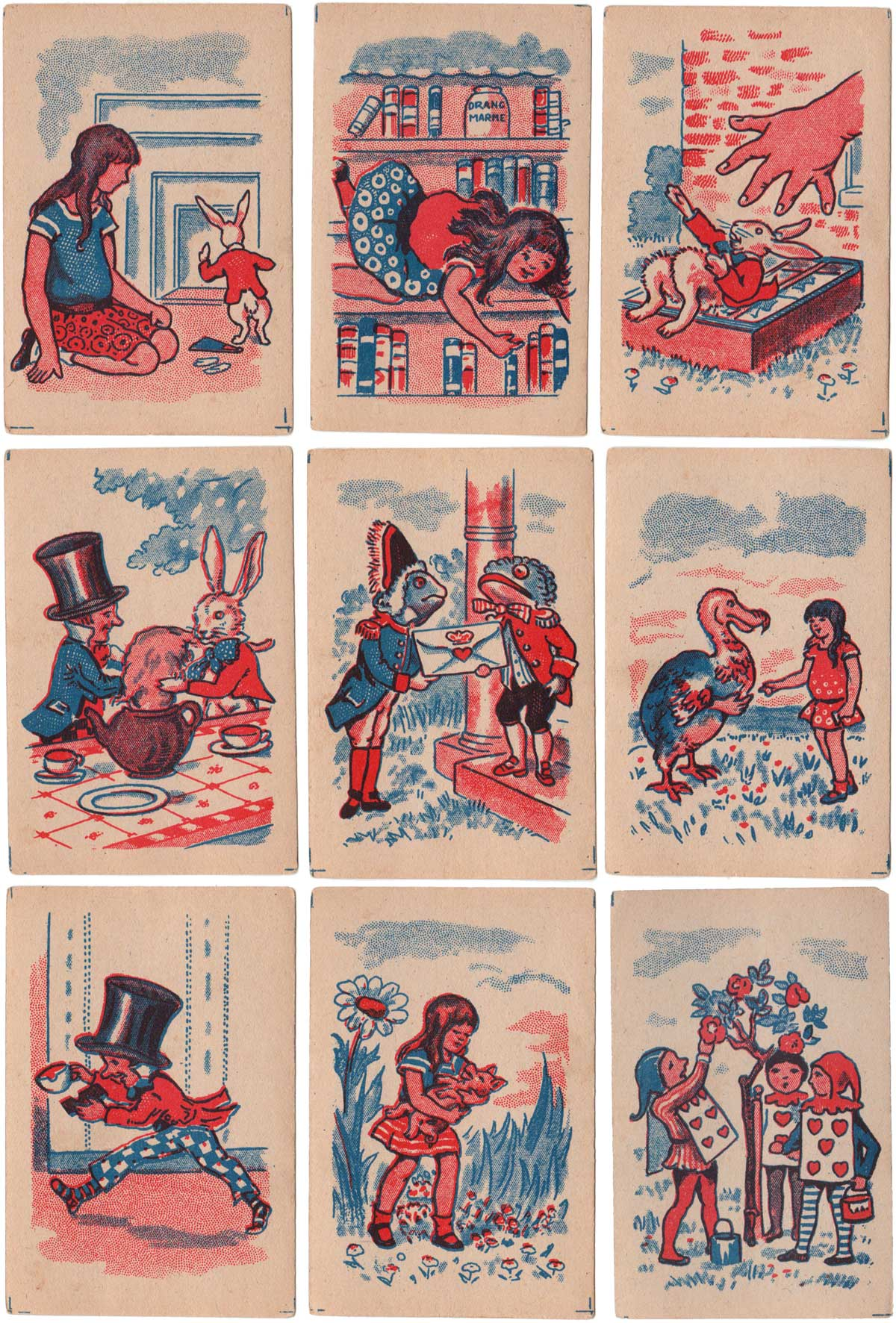 """Alice in Wonderland """"Snap"""" 1 penny game from 1920s or 30s"""