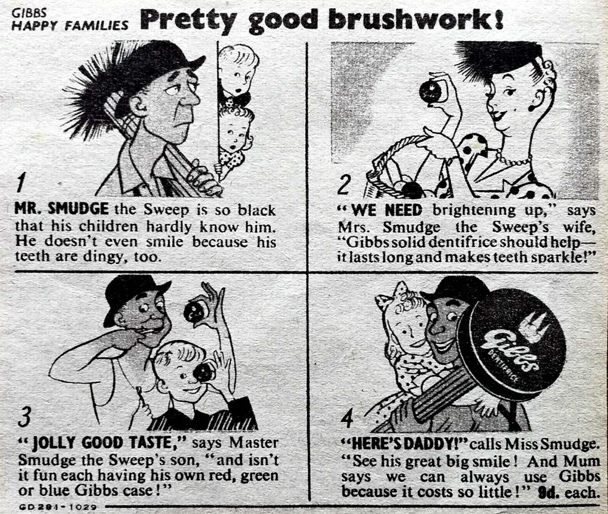 Gibbs Happy Families cartoon, 1948