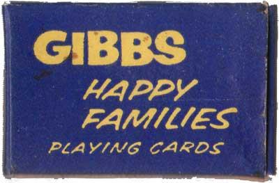 Gibbs miniature Happy Families, c.1946