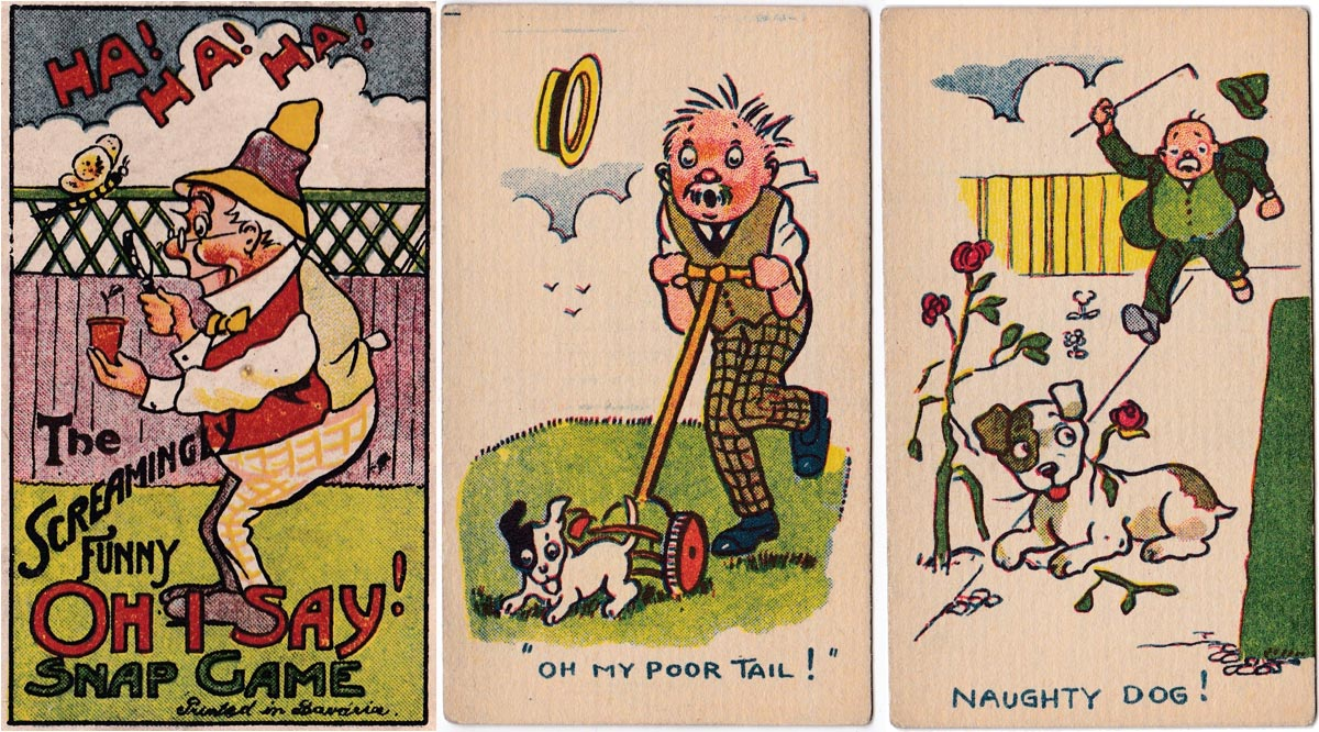 "The screamingly funny ""Oh I Say!"" Snap game, c.1920"