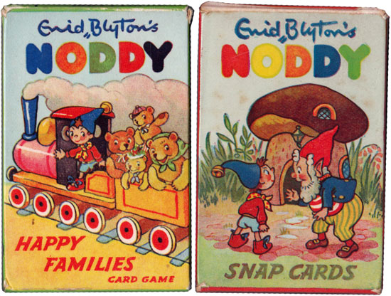 Boxes from Noddy Happy Families & Noddy Snap card games, c.1955