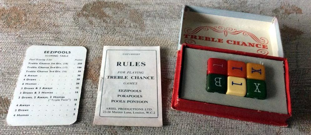 Treble Chance dice game, c.1950s
