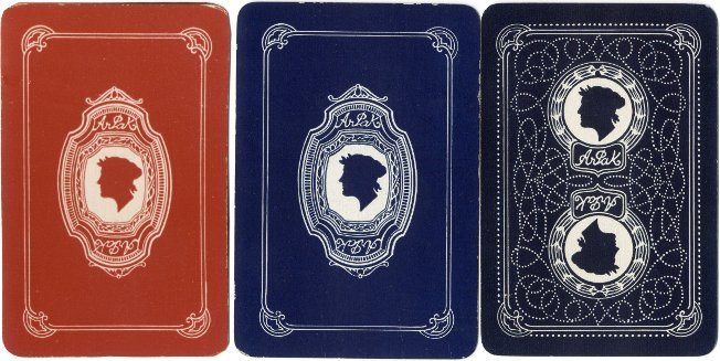 The Arpak No-Revoke playing cards, 24 Mount Pleasant, Liverpool, c.1927-35, back designs