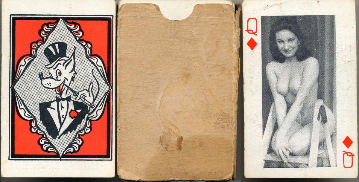 Photographic playing cards, each face having an art study of a female nude, Mayall Press, Stockwell, London, c.1946