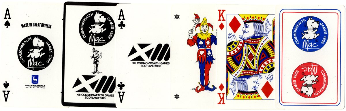 Special Ace of Spades and extra cards for the XIII Commonwealth Games, 1986