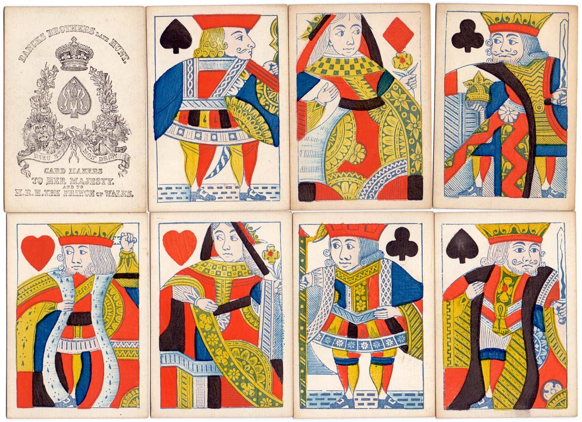 single-figure cards by Bancks Brothers c.1865