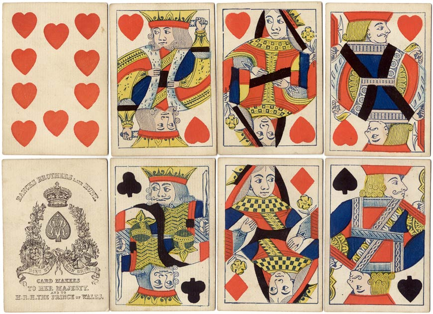 double-ended cards by Bancks Brothers c.1865
