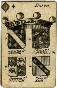 Heraldic playing cards: a knowledge of the arms and blazons of royalty and aristocracy was an important part of a respectable education