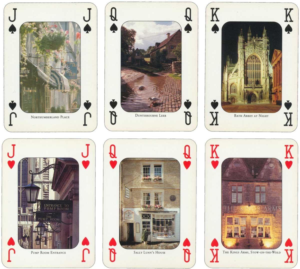 """Bath and the Cotswolds"" souvenir pack of cards published by John McLean of Edinburgh, c.1990"