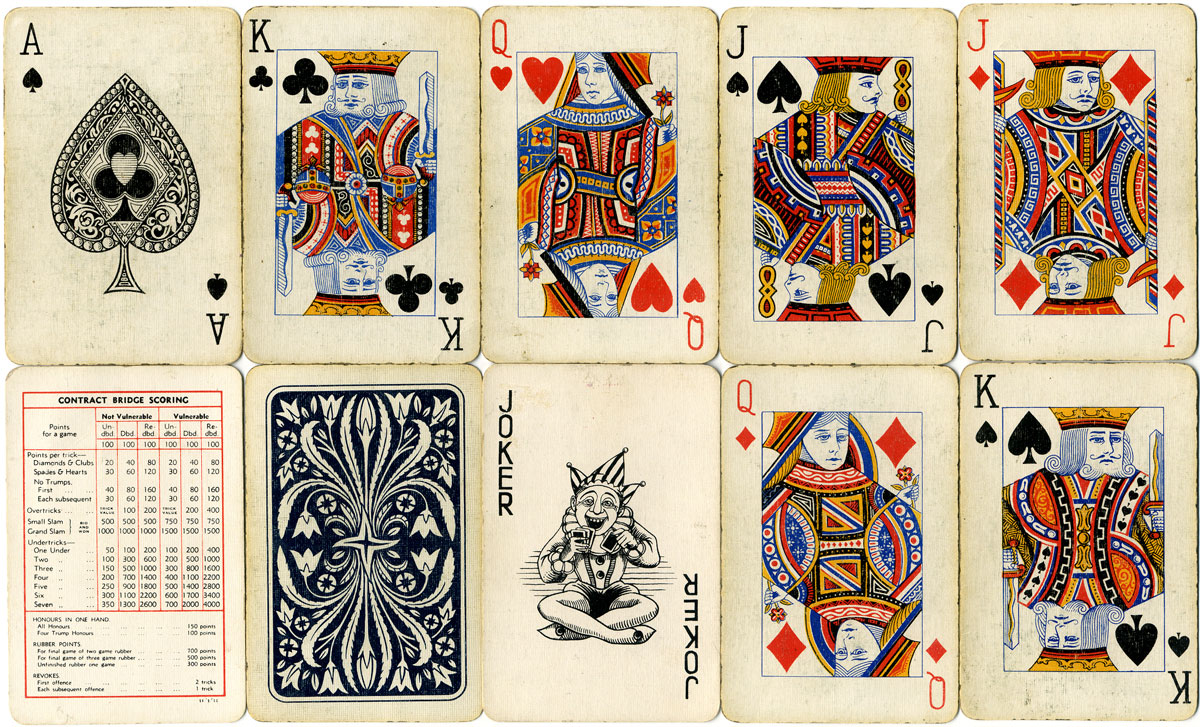 standard playing cards manufactured by The Berkshire Printing Company Ltd, Reading, c.1935