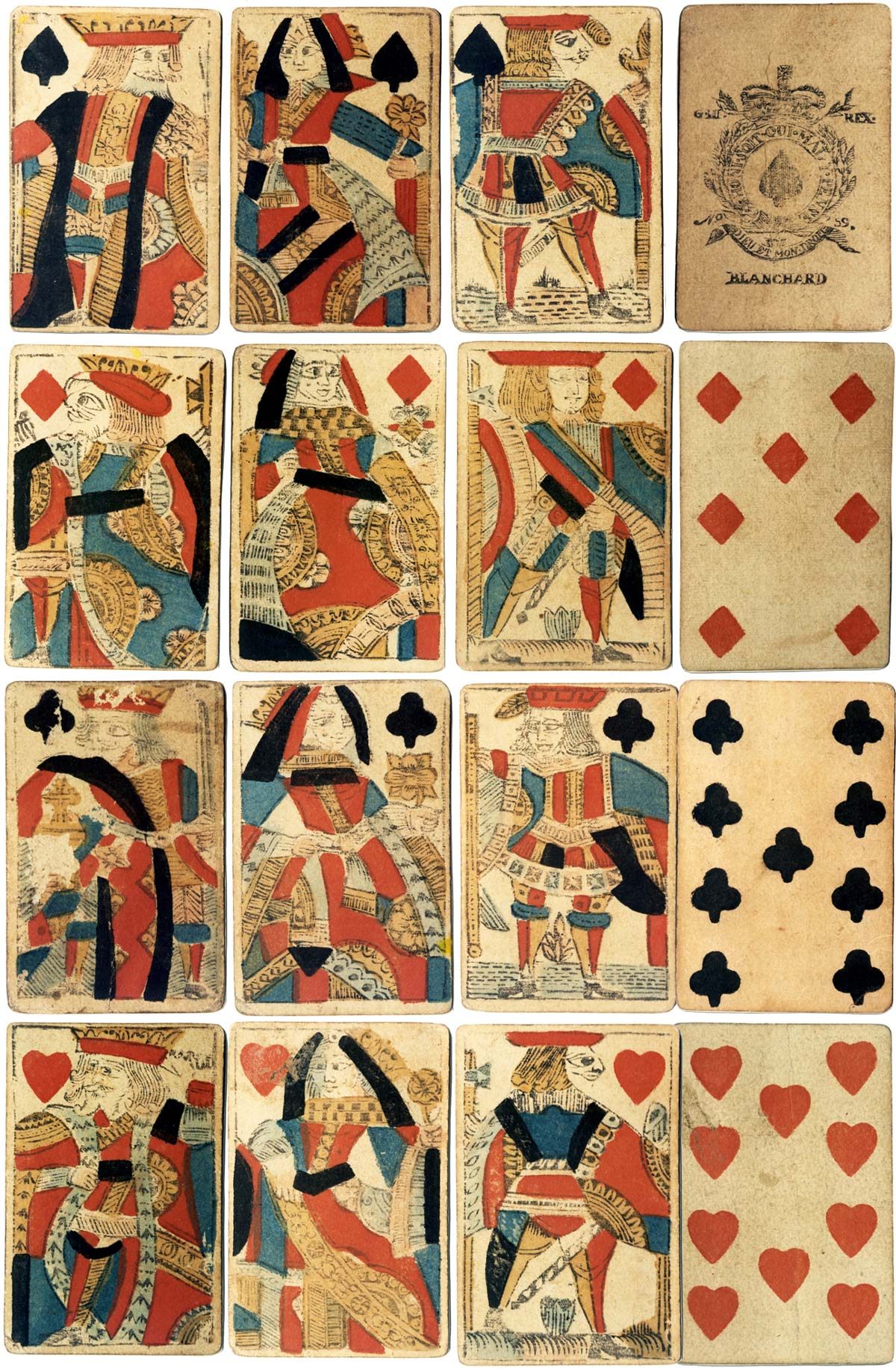 Cards by Blanchard, c.1770