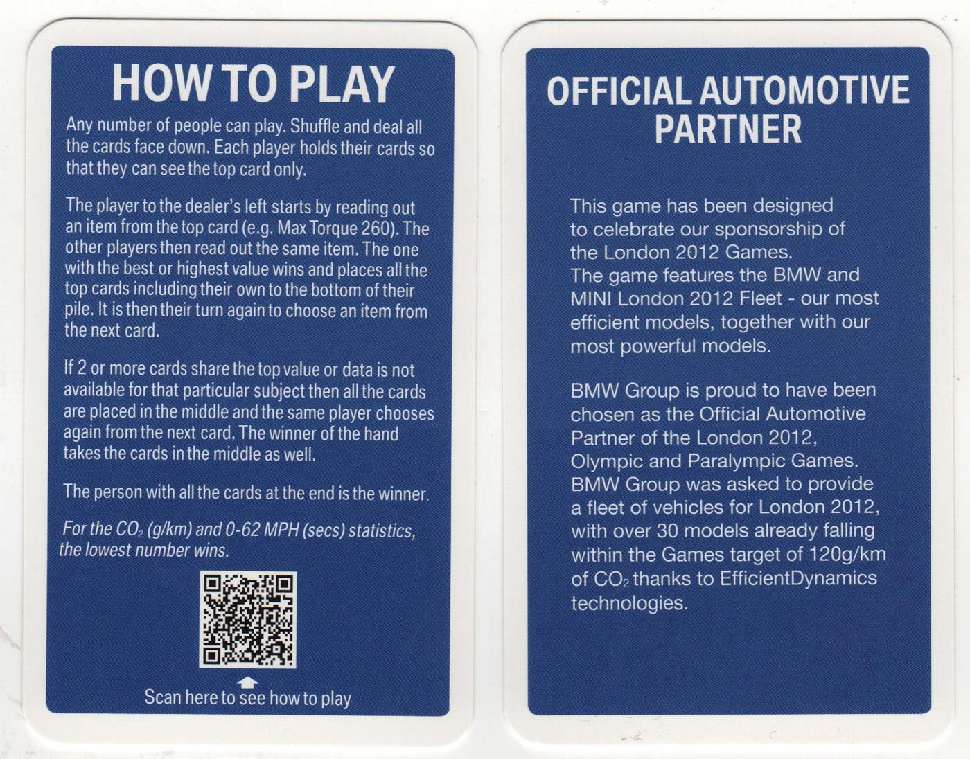 Top Trumps Rules >> Bmw Promo Top Trumps The World Of Playing Cards