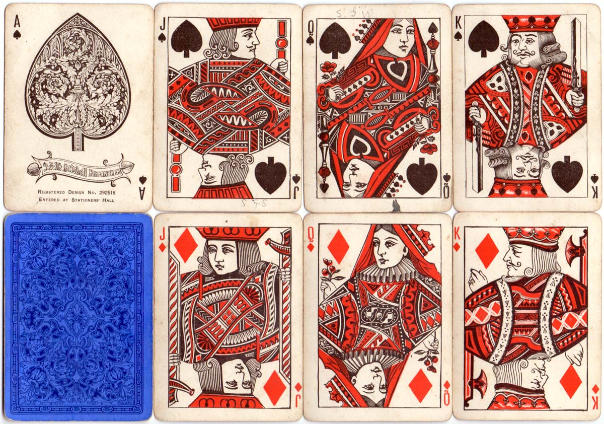 Bordesley playing cards manufactured by J & W Mitchell, Birmingham, c.1880-90