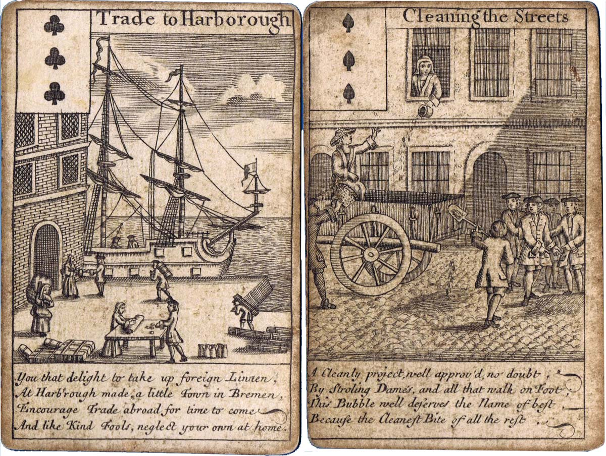 "Bubble Cards - known as ""All the Bubbles"", c.1720"