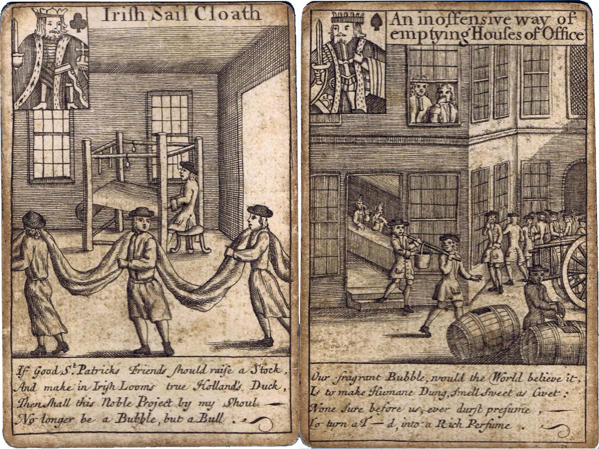 """Bubble Cards - known as """"All the Bubbles"""", c.1720"""