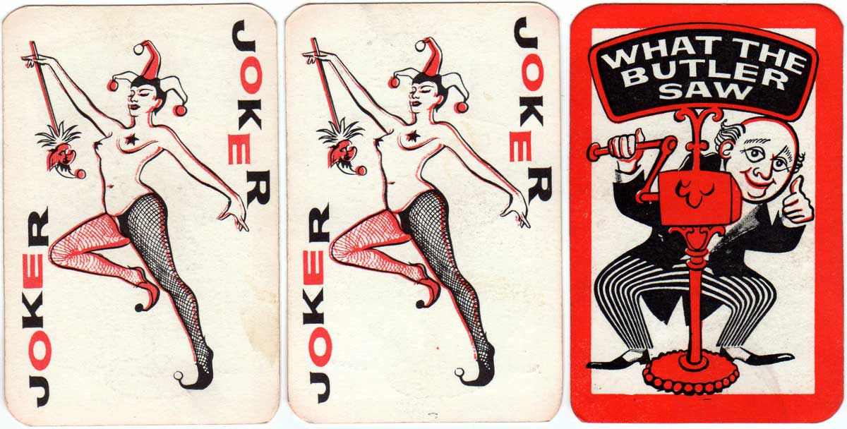 """What the Butler Saw"" playing cards"