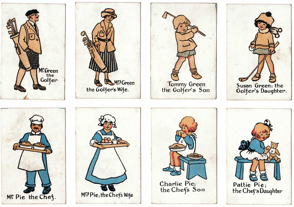 Linda Edgerton 'Happy Families' published by Chad Valley Games, Harborne, England, c.1925