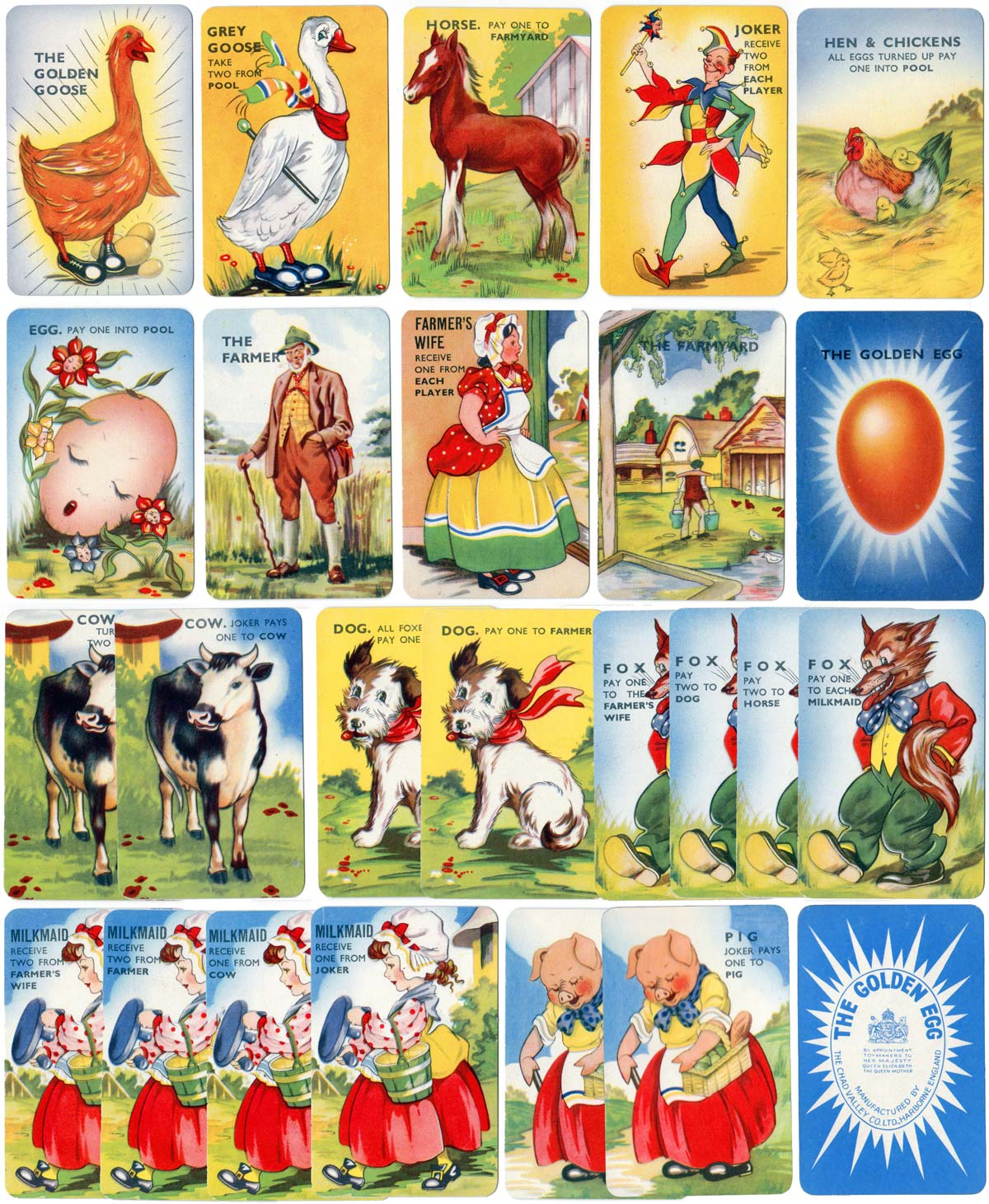 "Chad Valley ""Golden Egg"" card game, c.1955"