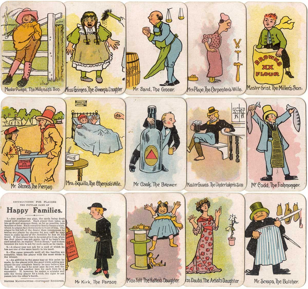 The Round Card Game of Happy Families, published by Chad Valley Games, England 1910