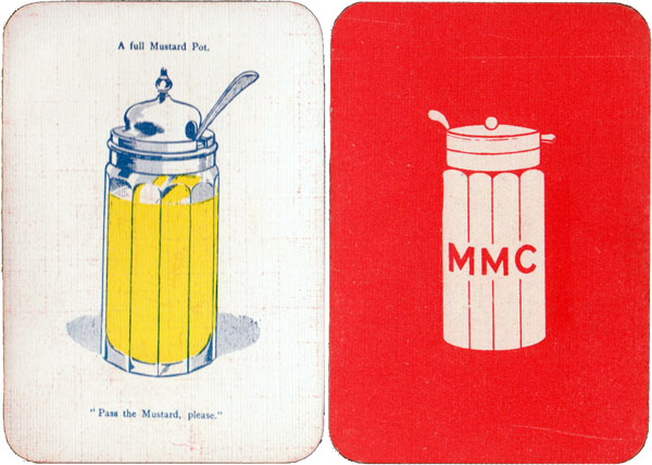 """""""Mustering of the Mustard Club"""" Mustard Pot and reverse"""