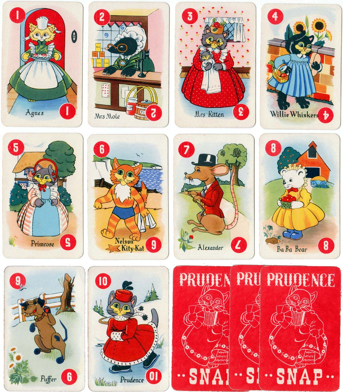 "Chad Valley ""Prudence Snap"" card game, 1950"