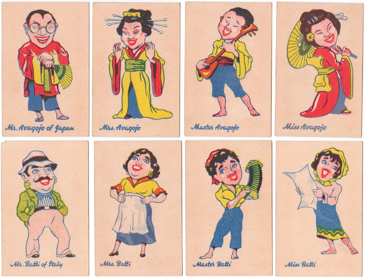 Round the World Happy Families by Chiefton Products Ltd of Bristol, c.1950s