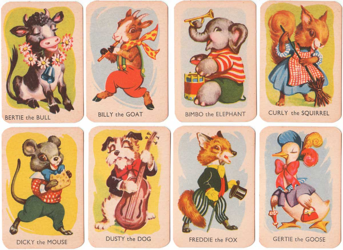 Donkey card game published by Clifford Toys, c.1955