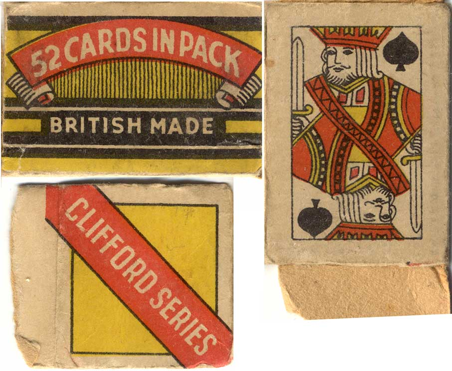 Clifford Toys, (England), c.1945, FLEVECO miniature cards