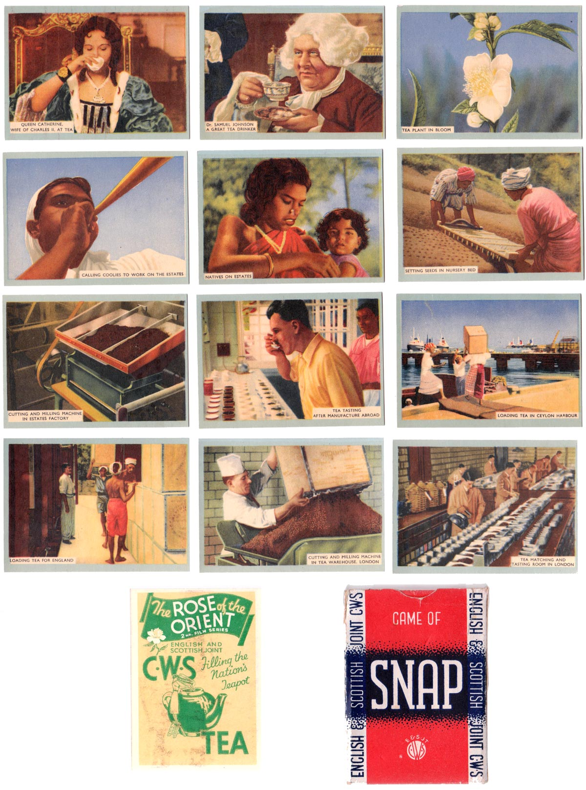 2nd Film Series 'Game of Snap' published by the English & Scottish Joint C.W.S., 1930s