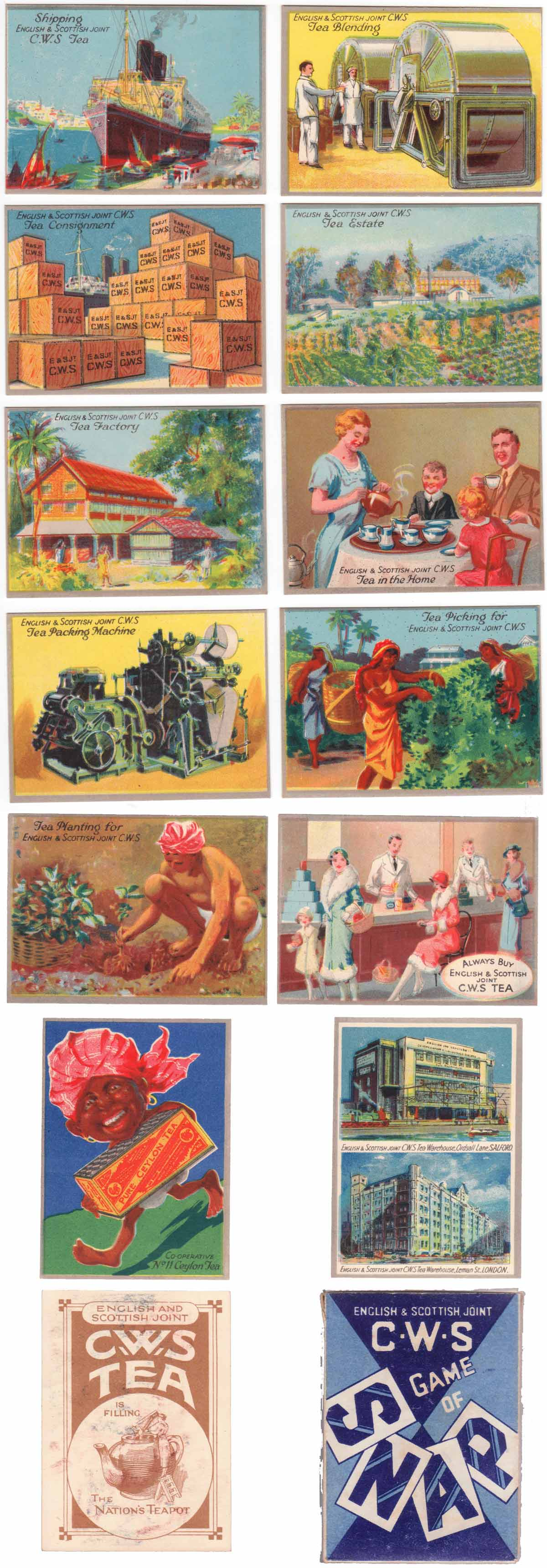 4th Series 'Game of Snap' published by the English & Scottish Joint C.W.S., 1930s