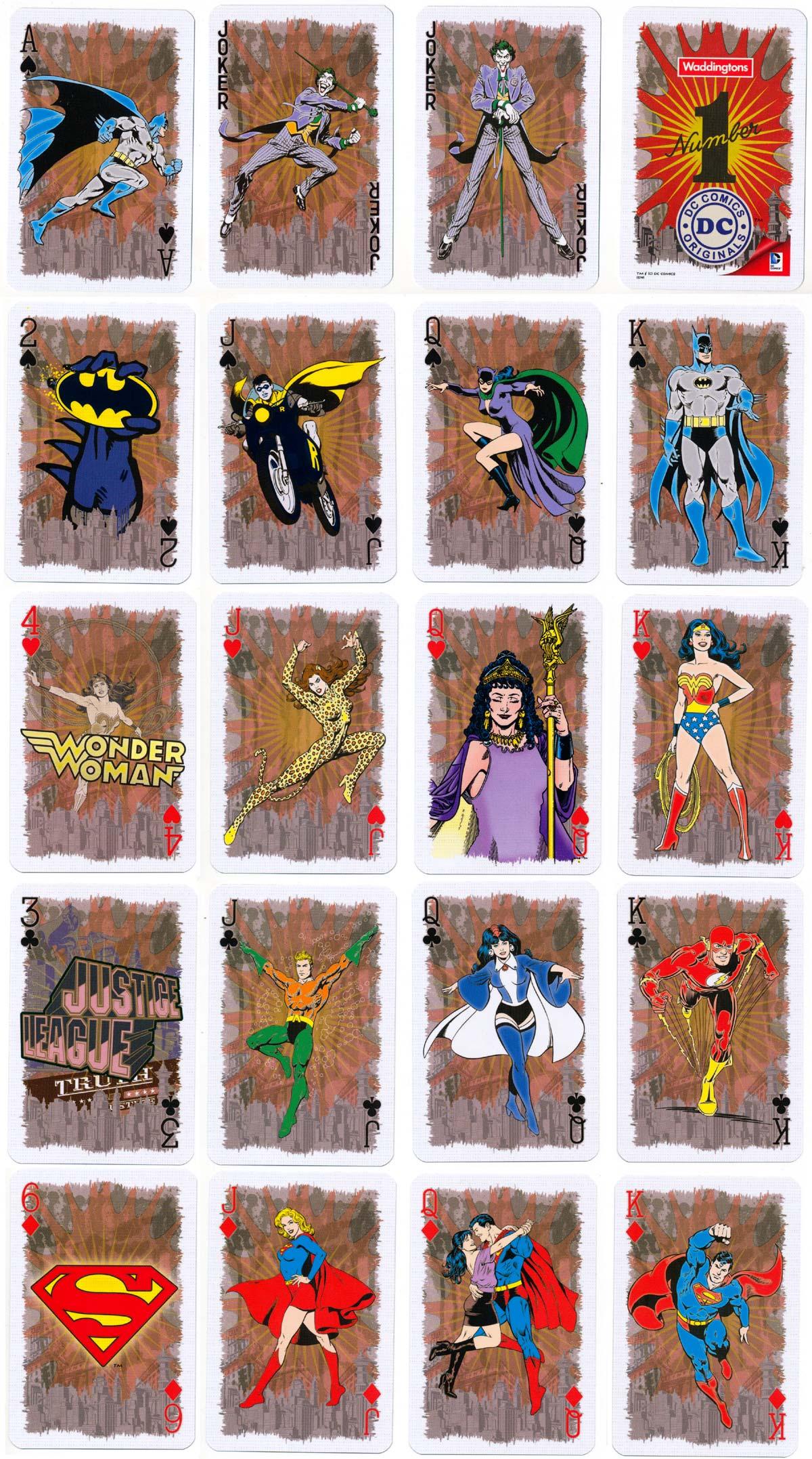 Waddingtons 'DC Comics Originals' deck published by Winning Moves, 2014