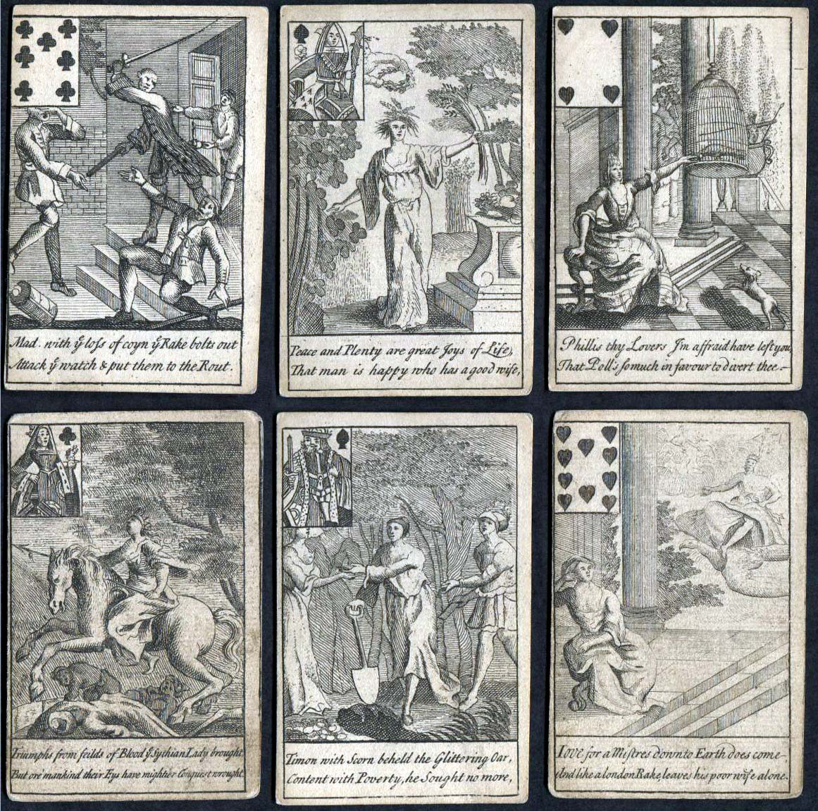Delightful Cards, containing variety of entertainment for young Ladies and Gentlemen c.1723