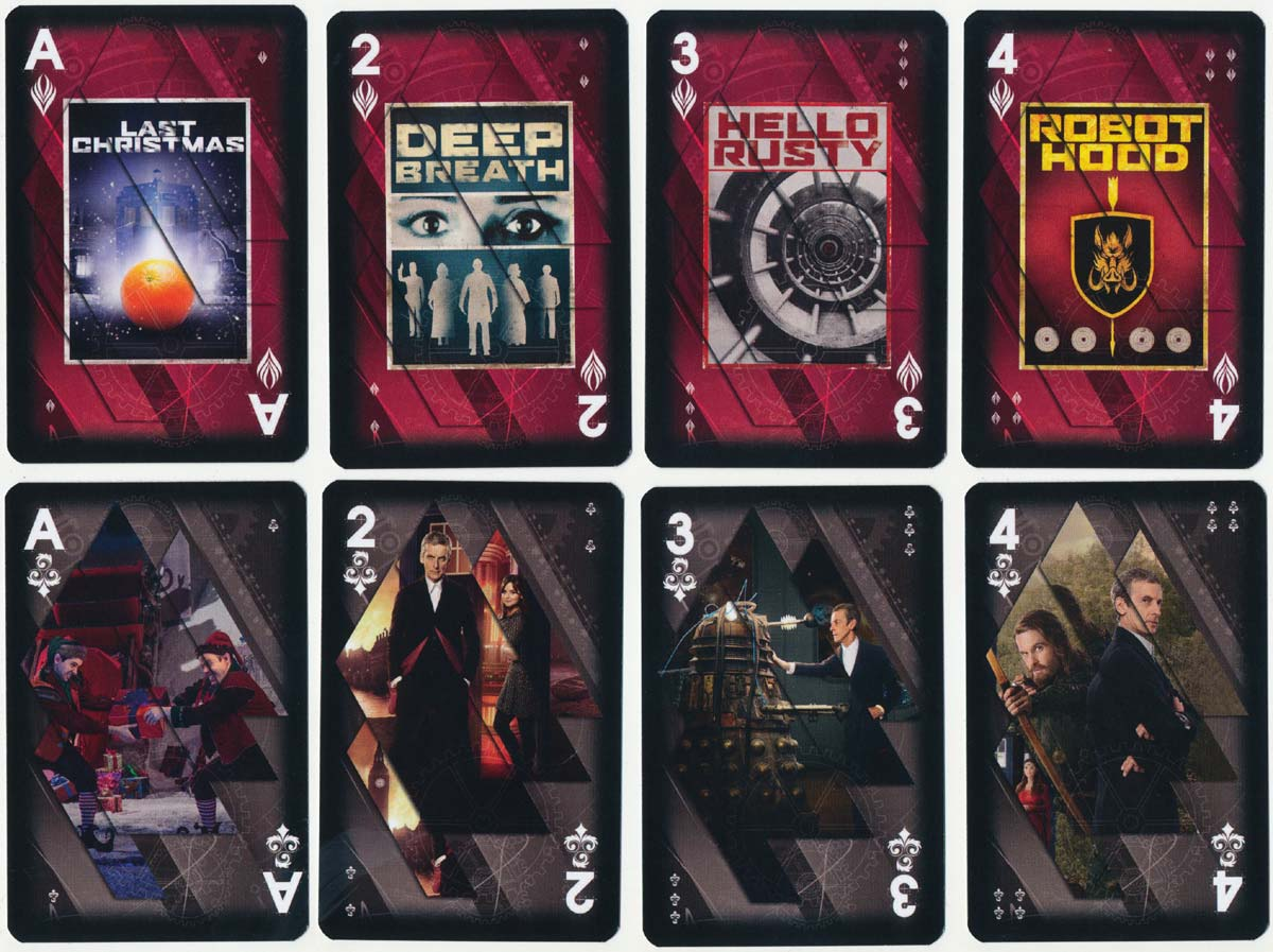 Doctor Who fan cards produced by Winning Moves under the Waddington's label, 2015