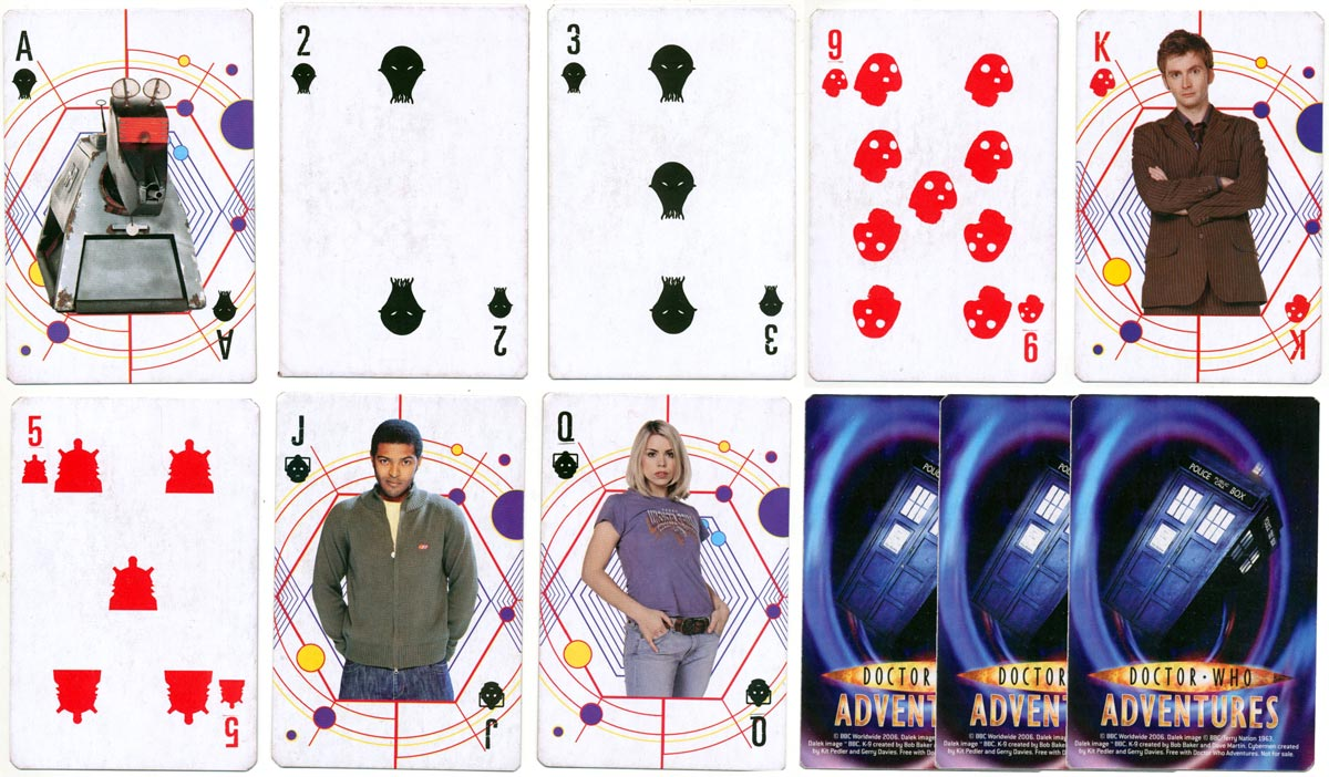 'Doctor Who Adventures' playing cards, 2006