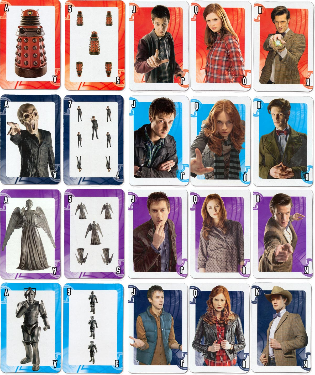'Doctor Who Adventures' playing cards, 2009