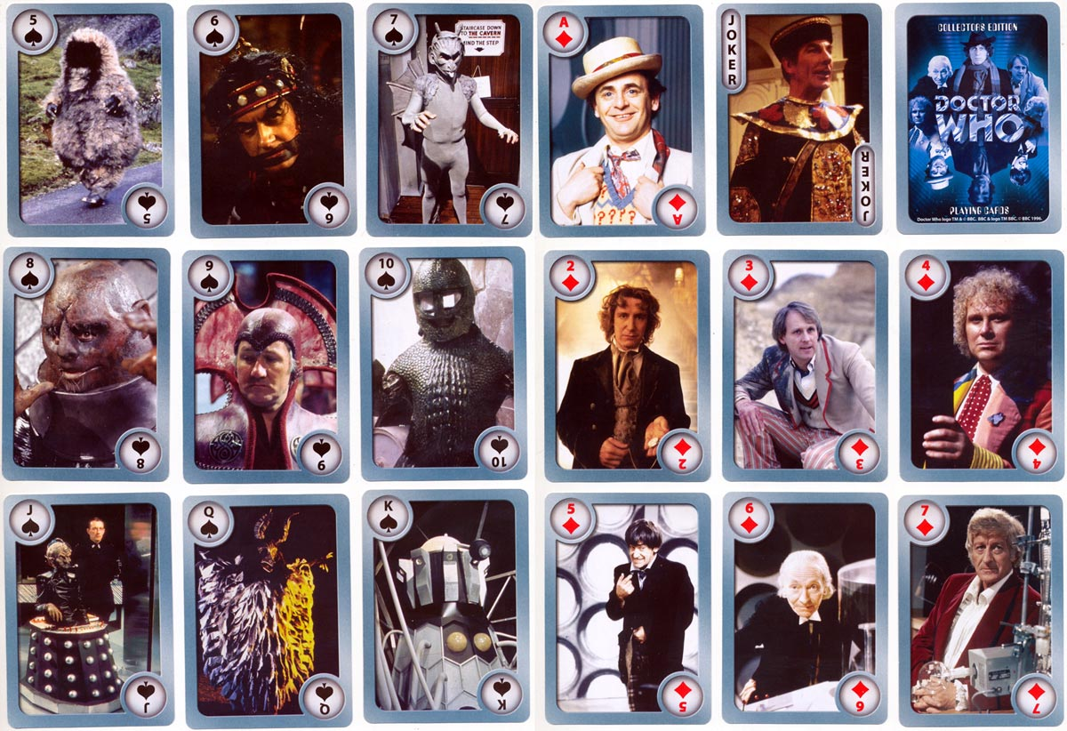 Collector's Edition Doctor Who playing cards, 1996