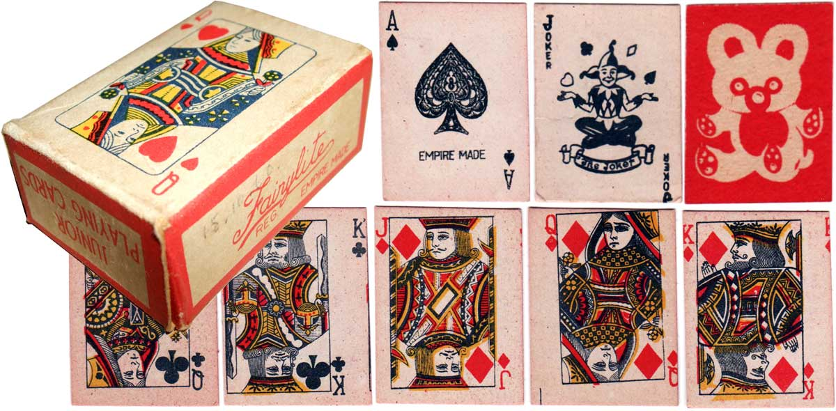 Fairylite miniature novelty playing cards from the late 1940s or early 1950s